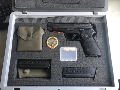 #pistole #waffenrecht #pistolenkoffer #sig220 #magazin