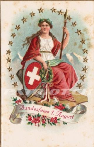 #helvetia #bundesfeier #postkarte