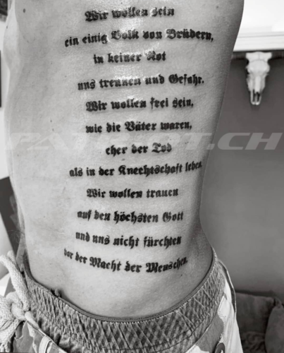 #tattoo #rütlischwur