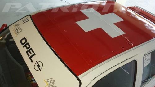 #rennwagen #opel #flagge #auto