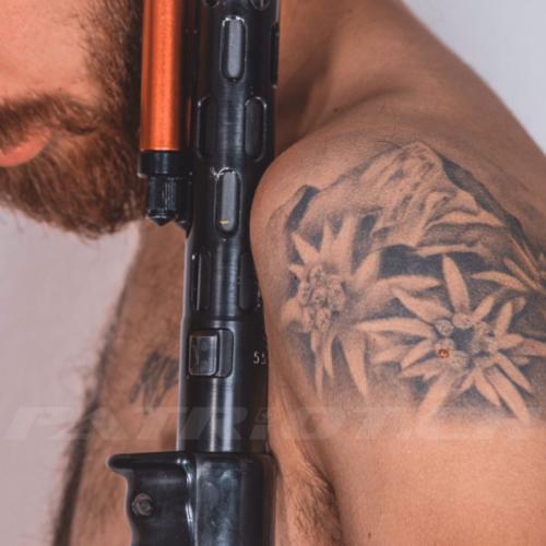 #tattoo #tattoos #eiger #berg #edelweiss #stgw57 #gun #guns #gunlover #waffenrecht