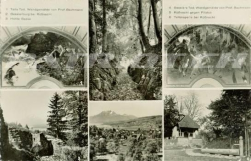 #postkarte #wilhelmtell #gesslerburg #hohlegasse #tellskapelle