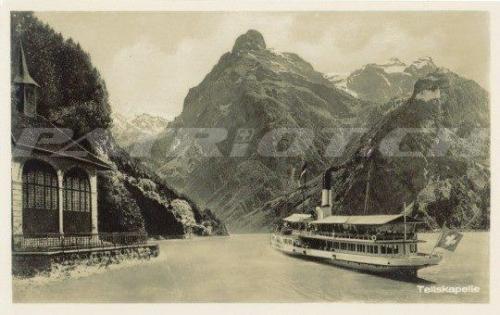 #postkarte #tellskapelle #schiff