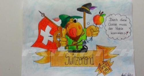 #wilhelmtell #fahne #1291 #switzerland #zeichnung