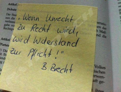 #widerstand #brecht