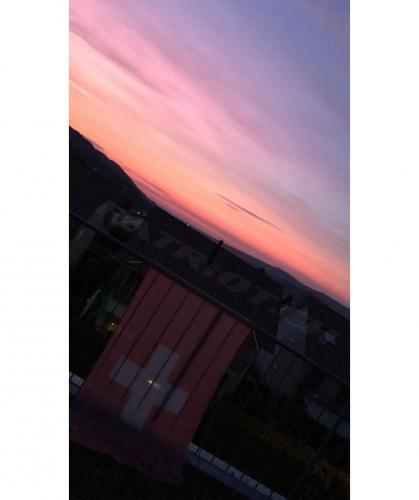 #sonnenuntergang #fahne