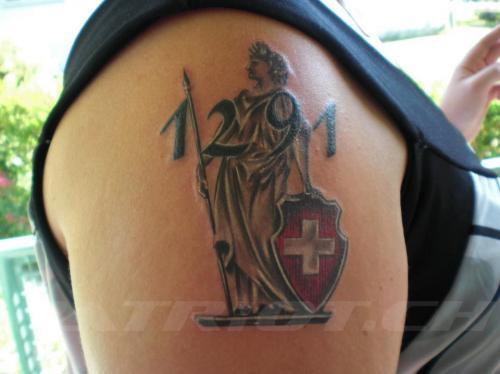 #tattoo #tattoos #1291 #helvetia dankä jasmin !