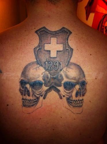 #tattoo #tattoos #wappen #1291 #schweizerkeuz #skull