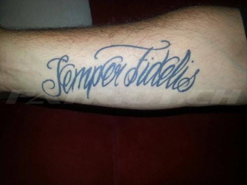 #tattoo #tattoos #semperfidelis #semperfi #immertreu