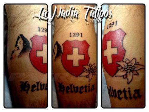 #tattoo #tattoos #1291 #matterhorn #edelweiss #helvetia #schild