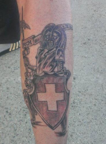 #tattoo #tattoos #schild #schweizerkeuz #skull