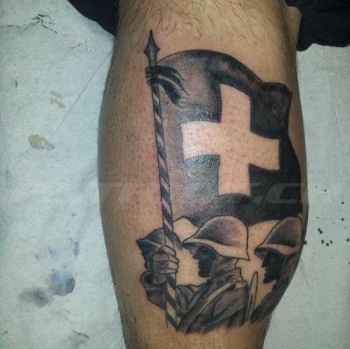 #tattoo #tattoos #fahne #fahnenträger #armee #militär