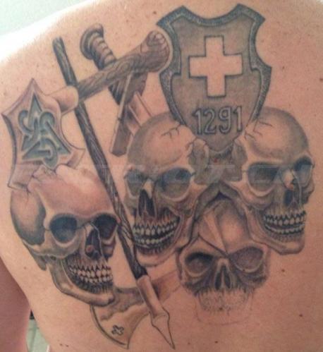 #tattoo #tattoos #1291 #schwert #hellebarde #beil #skull